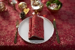 Hodvábne obrúsky Dunisoft 40x40cm Christmas Deco red (12ks) AKCIA