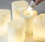 Pebble, bílé sklo / mramor 140x100mm (4ks)