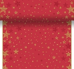 Šerpa z netkané textilie 0,4x4,8m Shining Star red