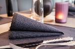 Luxusný obrúsok 40cm Grinda black (1ks)