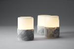 Bright kámen, Grey Marble 105x75mm (4ks)