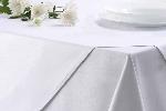 Bavlněný ubrus MILENIUM, bílý hladký, rozměr 40x40cm