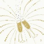 Luxusné obrúsky 40cm Duniliny Festive Cheers white (50ks)