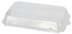Viečko na plastovú krabičku Sushi Box, priehľadné, 24,7x15,1x2,7cm (500ks)