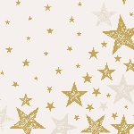 Ubrousky 33x33cm/3vrst. Shining Star cream (20ks)
