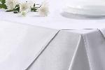 Bavlněný ubrus MILENIUM, bílý hladký, rozměr 130x210cm