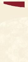 Púzdro na príbor vanilka s bordovou servítkou 8,5x19cm (500ks)