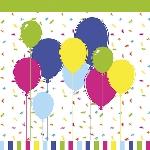 Ubrousky 33cm/3vrst. Ballons and Confetti (240ks)