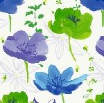 Ubrousek 33cm/3vrst. Sunbrella blue (1ks)