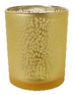 Svietnik na čajovú sviečku Arctic zlatý, 7x6cm