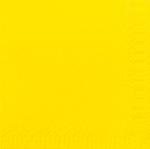 Servítky 33cm/2vrst. žlté (125ks)