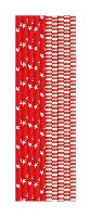 Papierové slamky RED&WHITE, dĺžka 20cm (500ks)