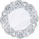 Ozdobné podložky priemer 17cm biele (250ks) AKCIA