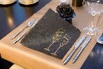 Luxusní ubrousek 40cm Salute black (1ks) AKCE