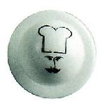 Knoflík na rondon, obličej kuchaře (12 ks)