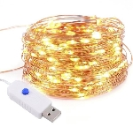 Led reťaz kov zlatá - na USB pripojenie (1ks)