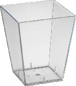 Plastové servírovacie misky Square large, rozmer 5,7x5,7x6,7cm (6x38ks)