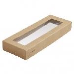 Víčko na krabičku Viking Ecoecho s okénkem, 225x85x30mm (300ks)