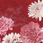 Hodvábne obrúsky Dunisoft 40x40cm Autumn Floral (60ks)
