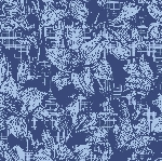 Luxusní ubrousky 40x40cm Firenze blue (12ks)