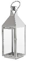Svícen - lucerna Thea stříbrný, 530x180mm (2ks)