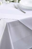 Bavlnený obrus, biely s bordúrou, rozmer 140x140cm