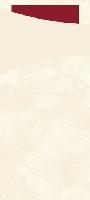 Pouzdro na příbor vanilka s bordó ubrouskem 8,5 x19cm (100ks)