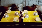 Snídaňové prostírání z netkané textilie 30x40cm Be Happy (100ks)