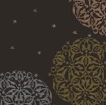 Luxusní ubrousek 40cm Festive Mood black (1ks) AKCE
