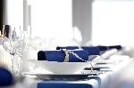 Hedvábné ubrousky Dunisoft 40x40cm tmavě modré (60ks) SUPER CENA