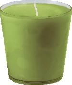 Náhradní náplň do svícnu listově zelená (1ks) AKCE