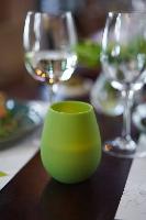 Svícny silikonové na led svíčky Tropical listově zelené, 103x88mm (6ks)