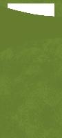 Pouzdro na příbor listově zelené s bílým ubrouskem 8,5x19cm (500ks)