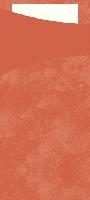 Púzdro na príbor mandarinka s bielou servítkou 8,5x19cm (500ks)