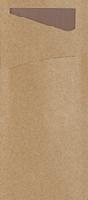 Púzdro na príbor Ecoecho s gaštanovou servítkou 8,5x19cm (400ks)