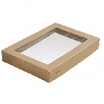 Víčko na krabičku Viking Ecoecho s okénkem, 200x140x30mm (300ks)