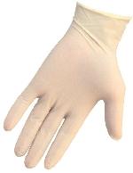 Rukavice latexové nepúdrové biele, veľkosť M (100ks)