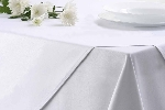 Bavlněný ubrus MILENIUM, bílý hladký, rozměr 120x160cm