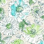 Hedvábné ubrousky Dunisoft 40x40cm Jardin (60ks) AKCE
