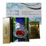 Balíček Fresh Try Pack  (cukríky Zhi Mint Plus, cukríky Zhi Ca Plus, malá zubná pasta Ganozhi)