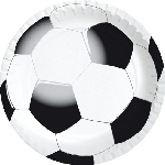 Papierové taniere, Ø 22cm Football (180ks)