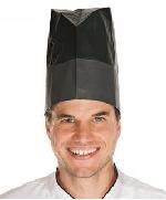 Kuchárska čapica papierová Excellent čierna (10ks)
