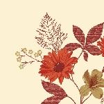 Luxusní ubrousek 40cm Cietta Flower terra (1ks) AKCE