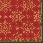 Servítky 33x33cm/3vrst. Xmas Deco red (1000ks)