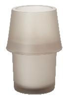 Svietnik zo skla Urban šedo-béžový, 135x90mm (6ks)