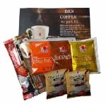 Balíček 7 ks různých káv (černá, krémová, 3v1, káva s čokoládou, Maca Vita Café, Maca Eu Café)