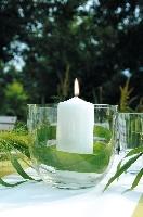 Sviečka valec 40x10cm biela (4ks)