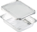 Aluminiové krabičky s alum. víčkem 32,2x26,2x5,5cm, objem 3400ml (100ks)