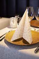 Luxusní ubrousky Duniliny 40cm Linen Snow (45ks) AKCE