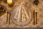 Luxusné obrúsky 40x40cm Christmas Deco cream (12ks) AKCIA